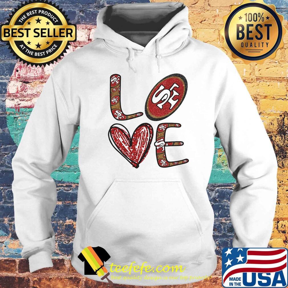 Love San Francisco 49ers Football Logo Heart s Hoodie