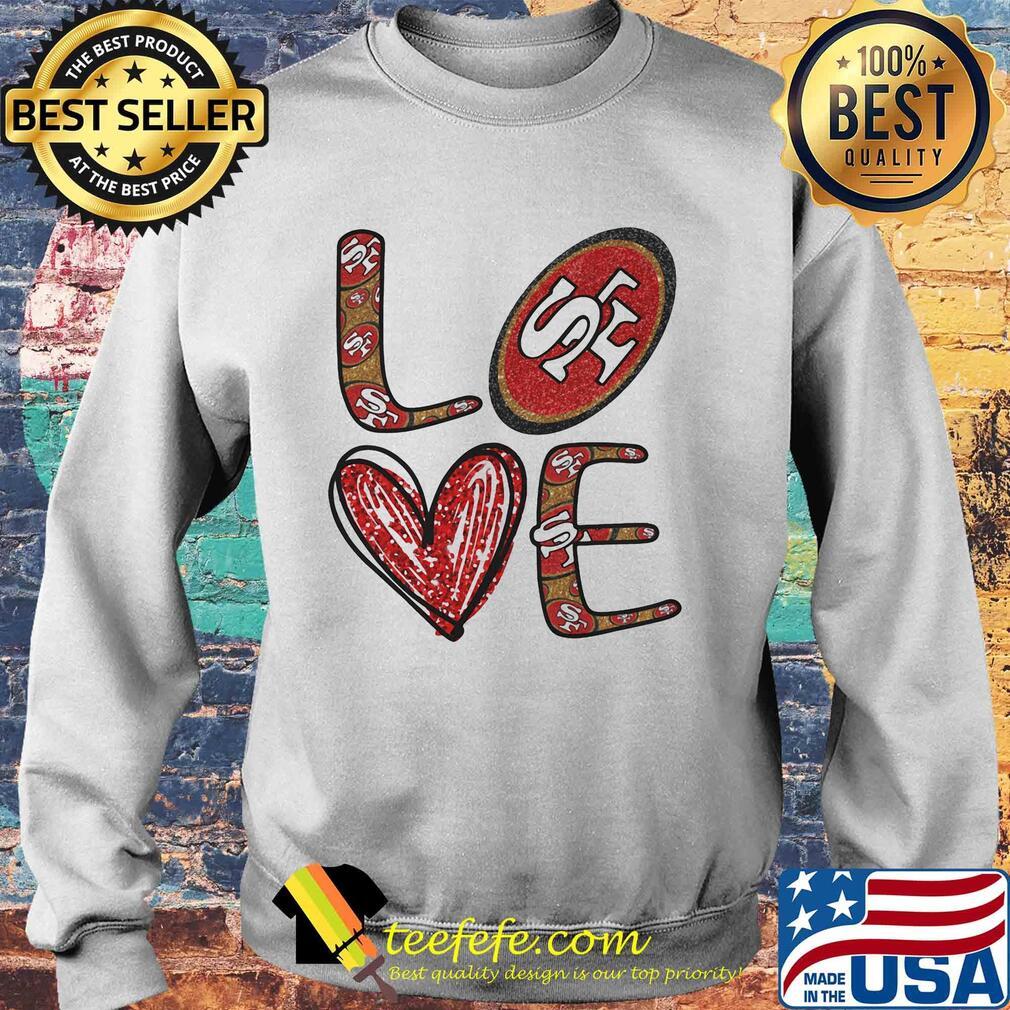 Love San Francisco 49ers Football Logo Heart s Sweater