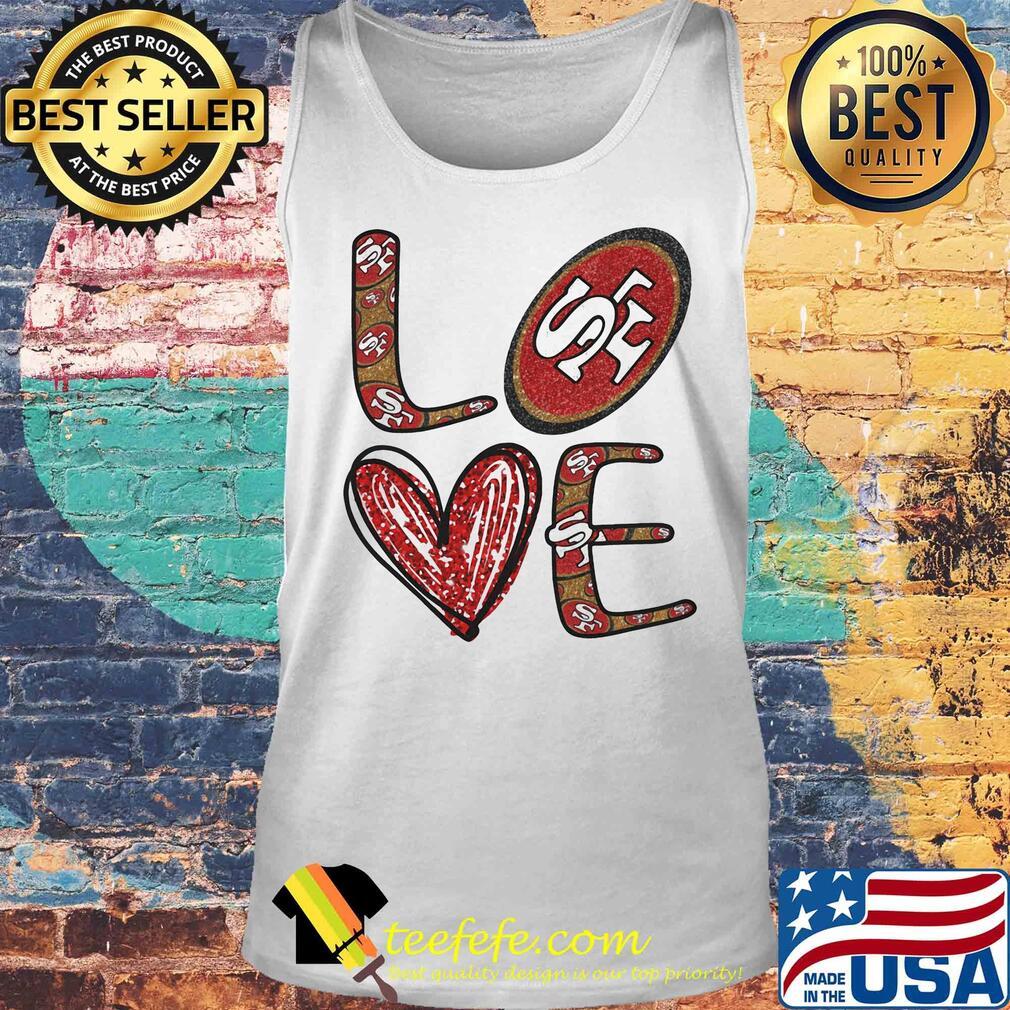 Love San Francisco 49ers Football Logo Heart s Tank top