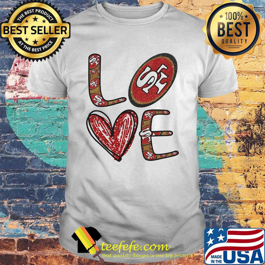 Love San Francisco 49ers Football Logo Heart shirt