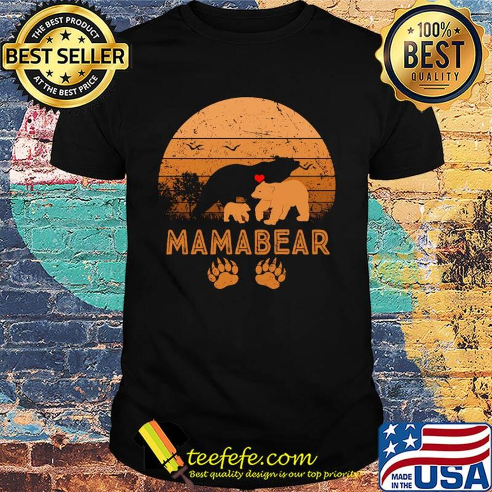 Mama Bear Heart Vintage 2020 shirt