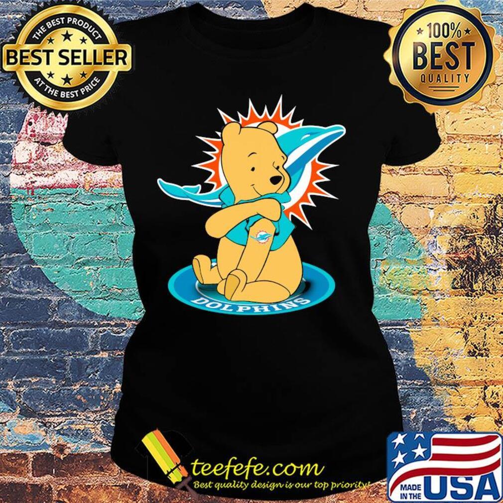 Pooh Tattoos Miami Dolphins Logo s Ladies tee