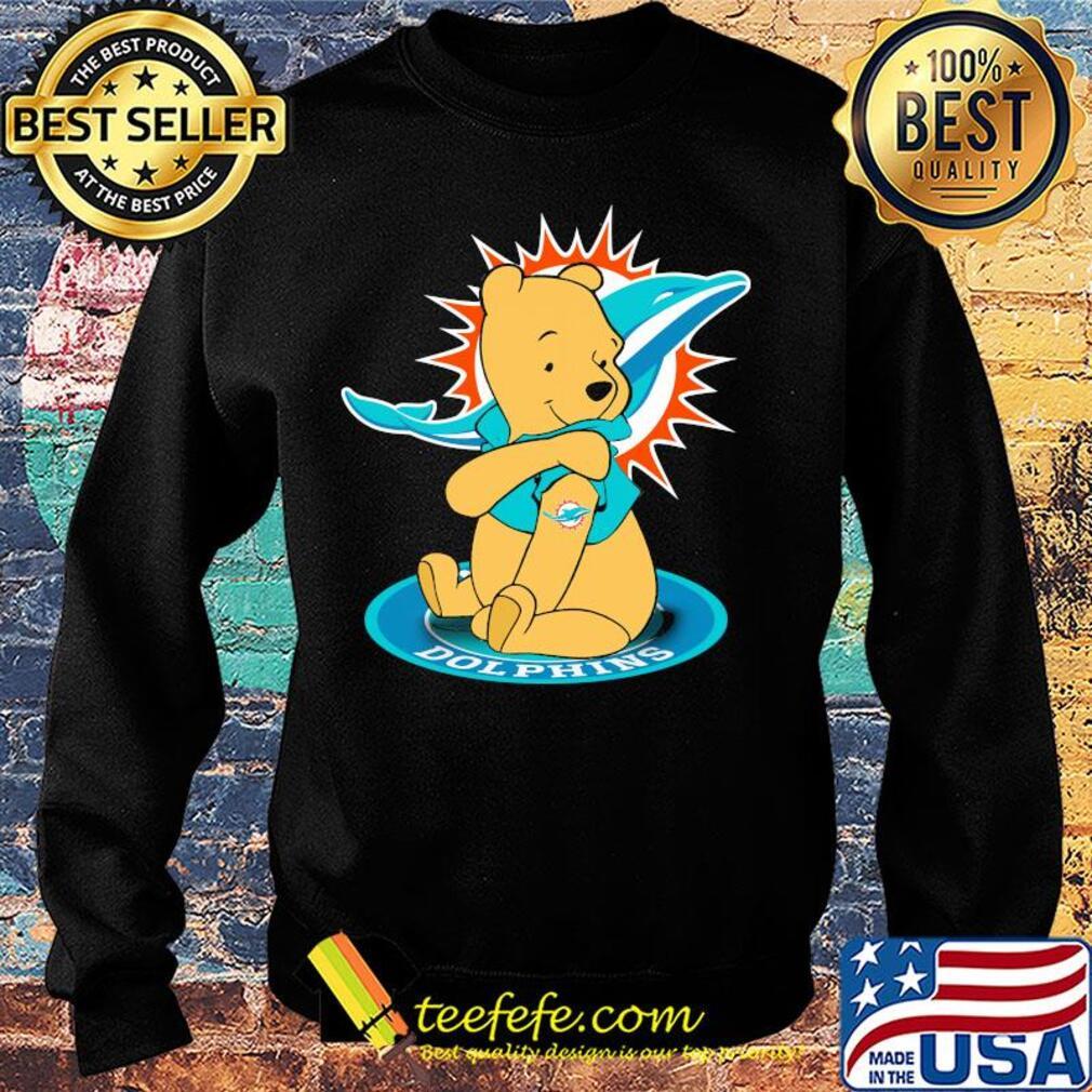 Pooh Tattoos Miami Dolphins Logo s Sweater
