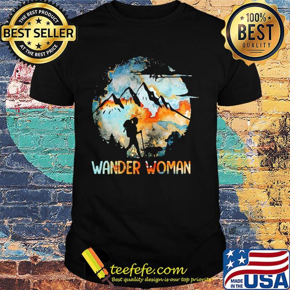 Wander Woman Mountain Camping Girl shirt