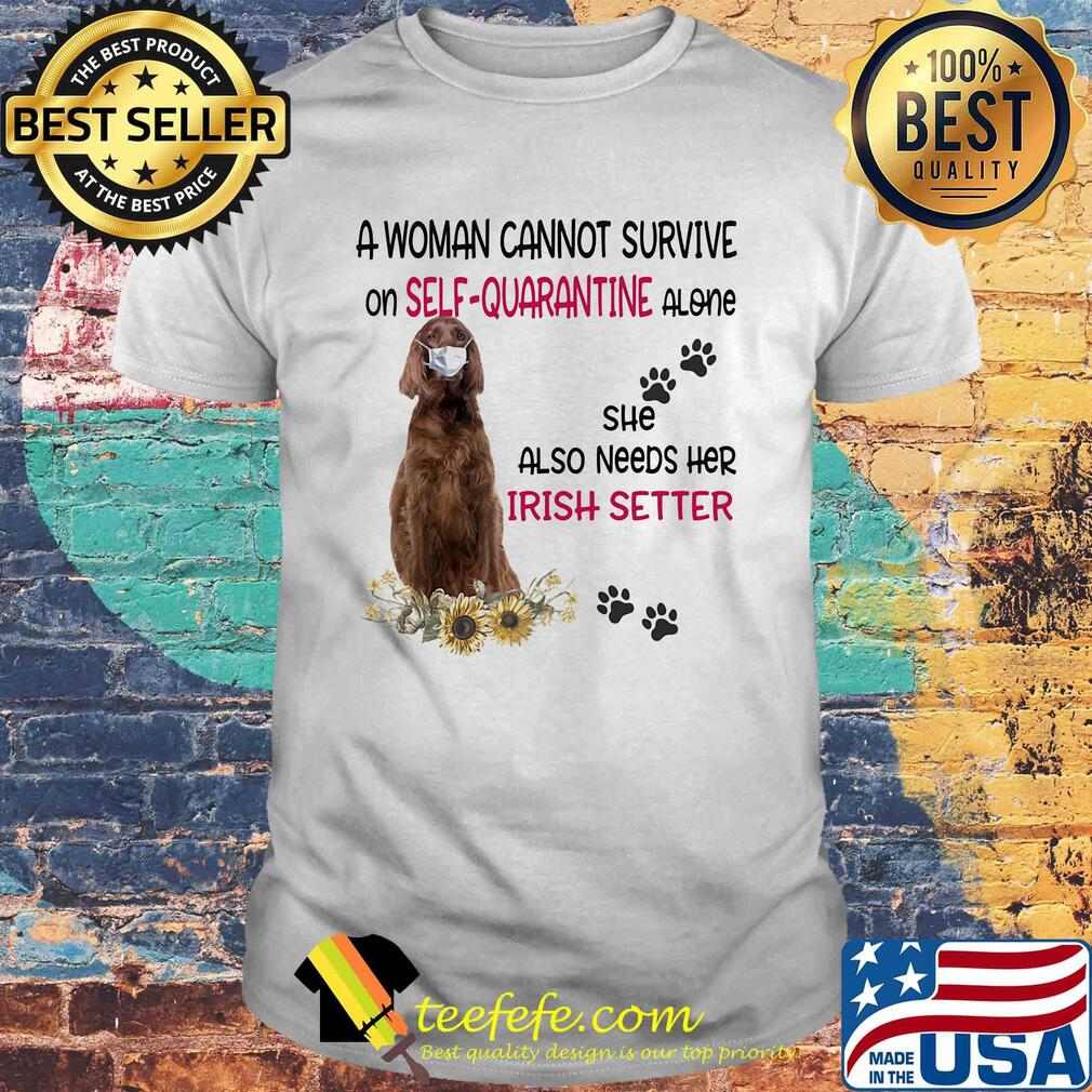 I Love Heart Irish Setters Ladies T-Shirt