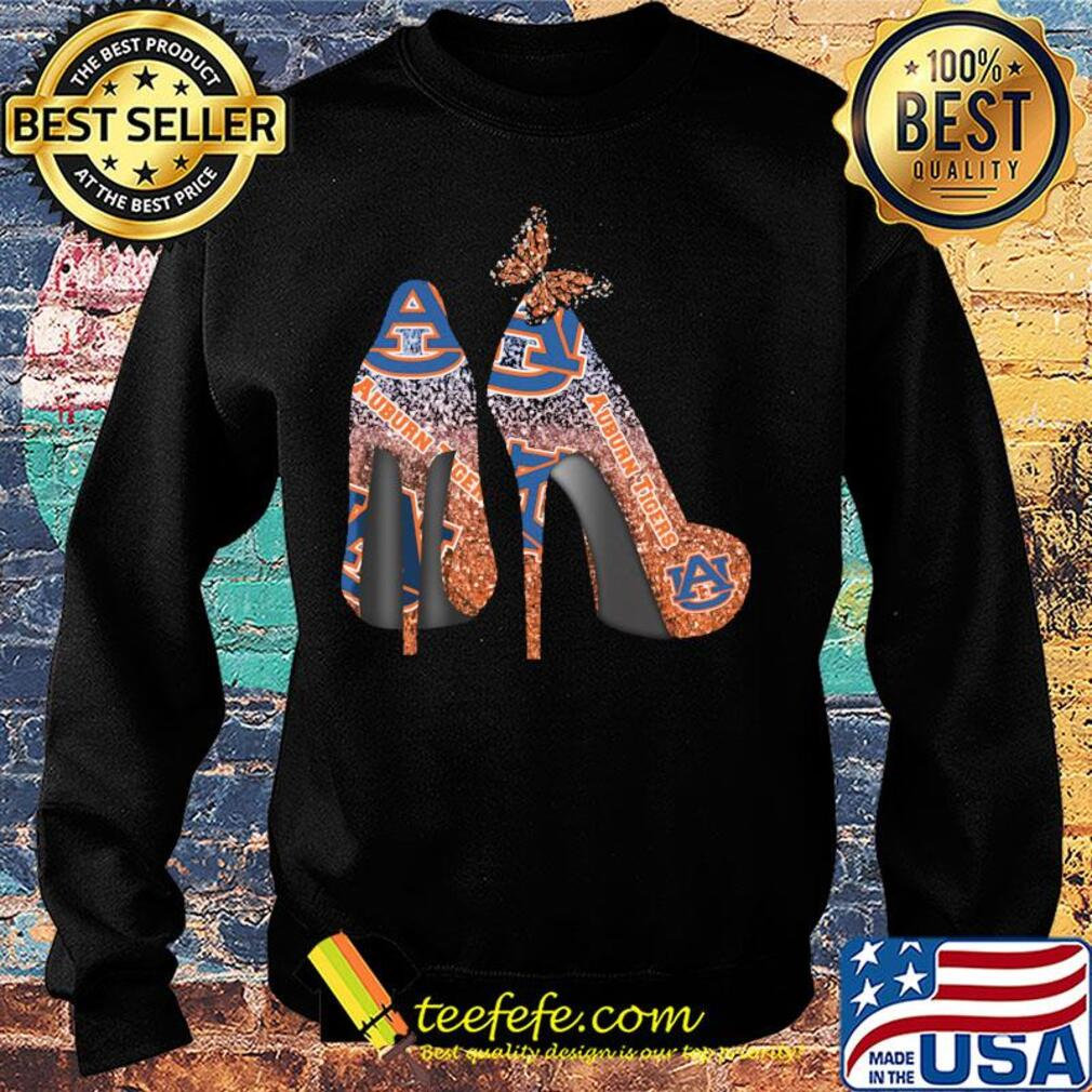 Butterfly Shoes Auburn Tigers Shirt Sweater