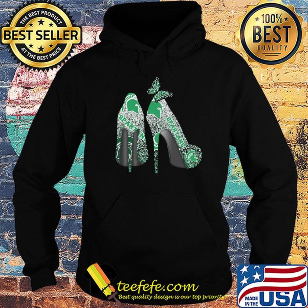 Butterfly Shoes Michigan State Spartans Shirt Hoodie