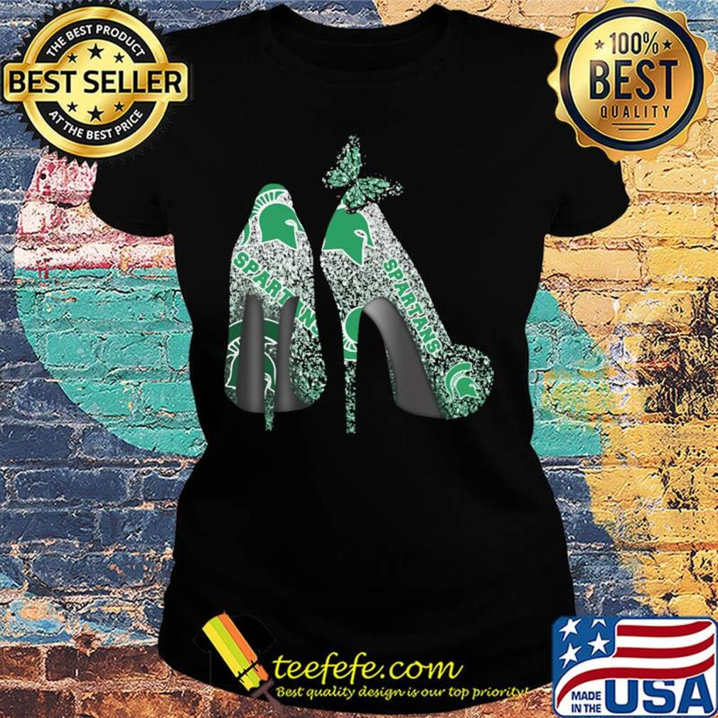 Butterfly Shoes Michigan State Spartans Shirt Ladies tee