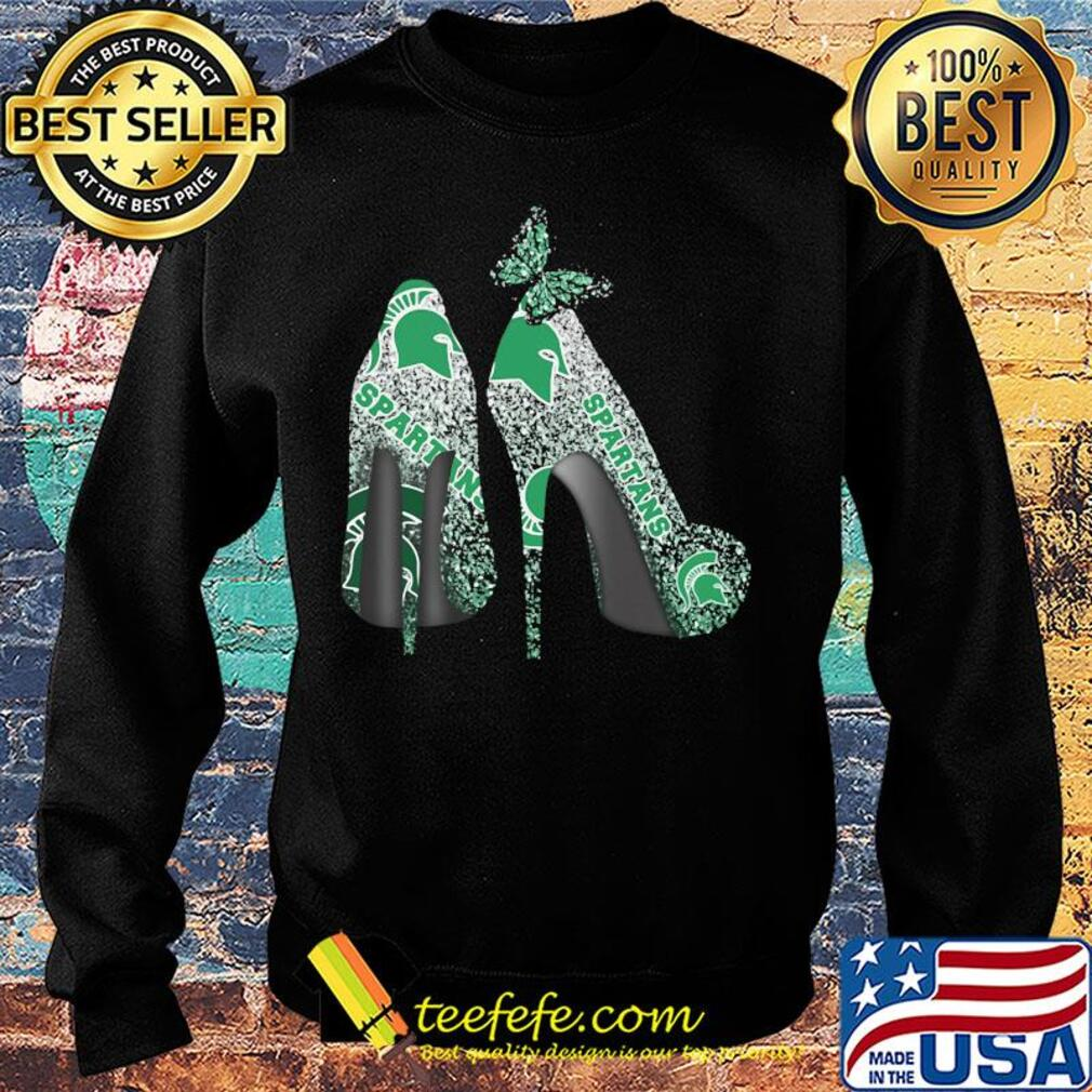 Butterfly Shoes Michigan State Spartans Shirt Sweater