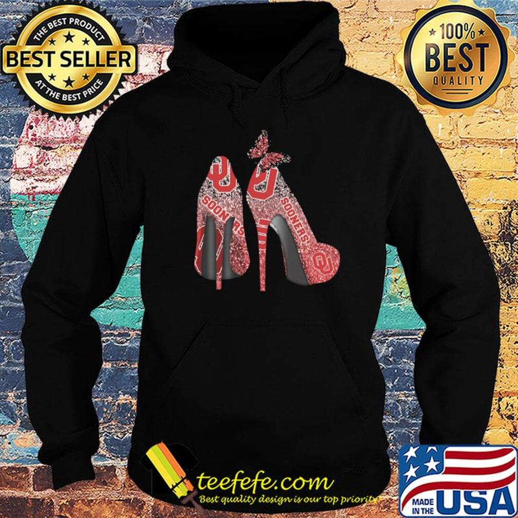 Butterfly Shoes Oklahoma Sooners Shirt Hoodie