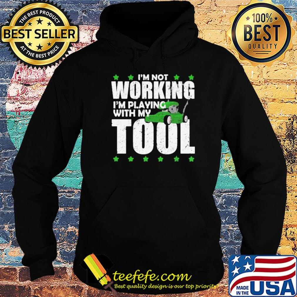 I'm not working I'm playing with my tool s Hoodie