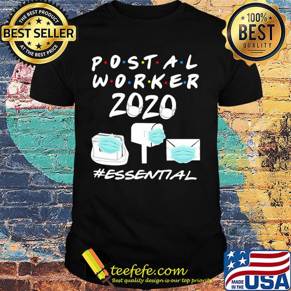 Postal worker 2020 mask essential shirt