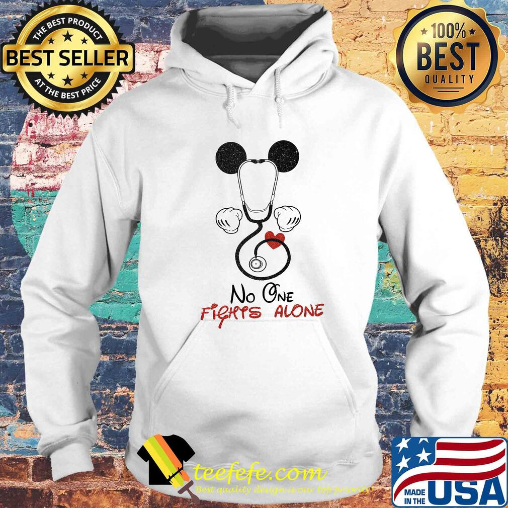 Stethoscope heart mickey mouse no one fights alone s Hoodie