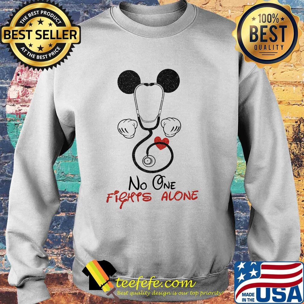 Stethoscope heart mickey mouse no one fights alone s Sweater