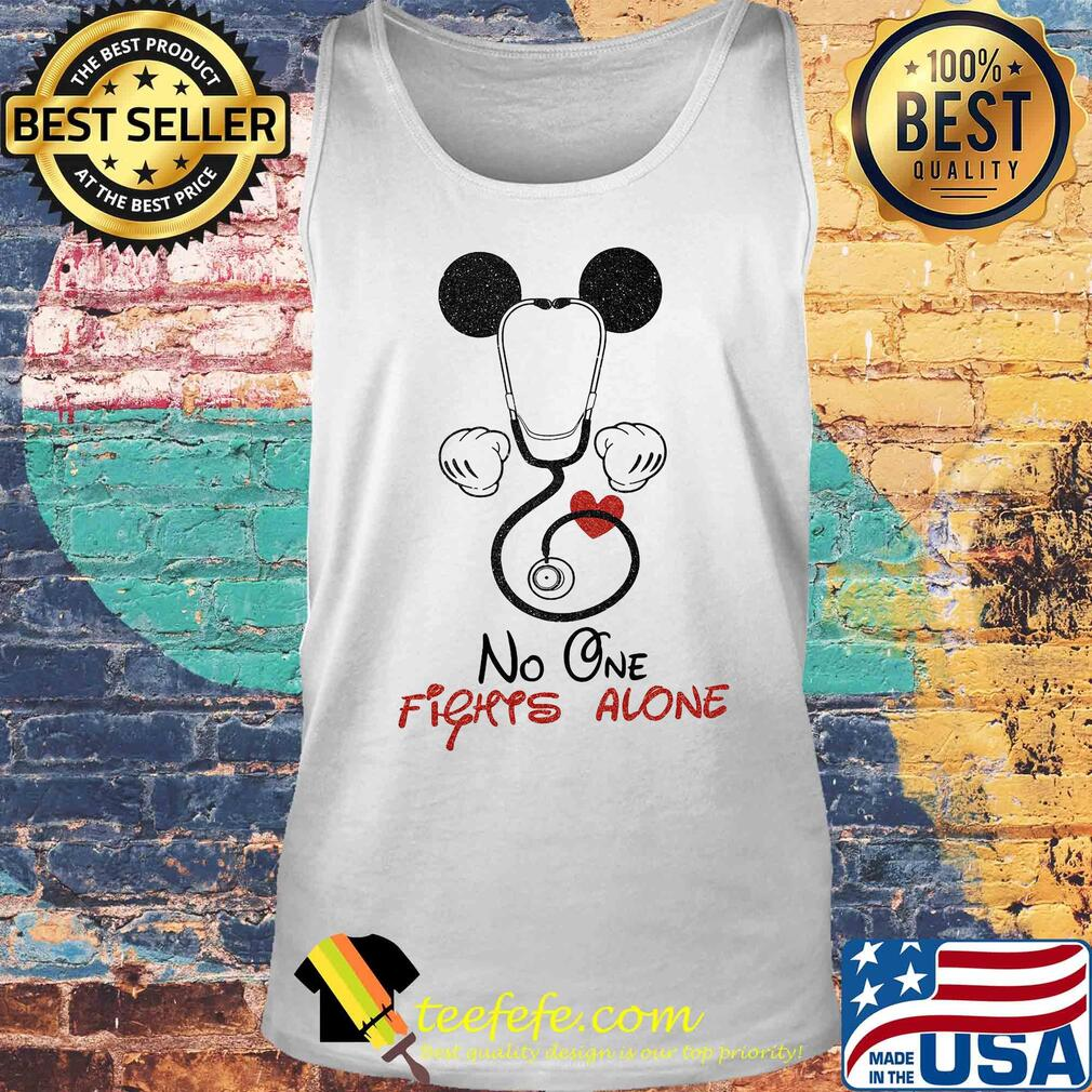 Stethoscope heart mickey mouse no one fights alone s Tank top