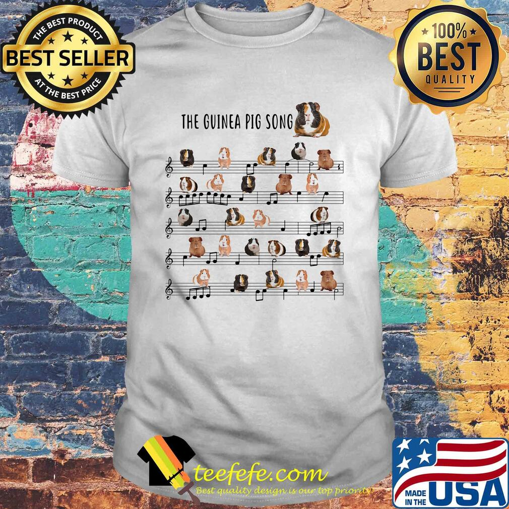 The guinea pig song staves shirt