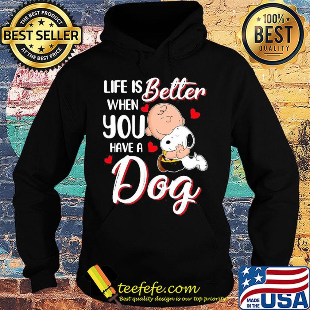 Snoopy and charlie brown life is better when you have a dog hearts s Hoodie