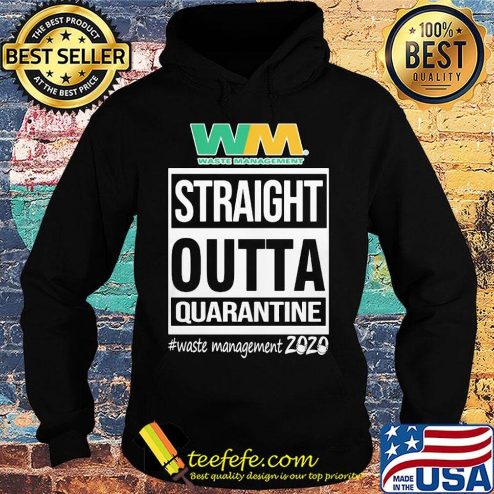 Straight outta quarantine waste management 2020 mask s Hoodie