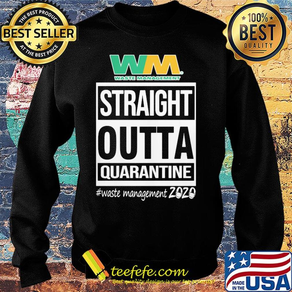 Straight outta quarantine waste management 2020 mask s Sweater