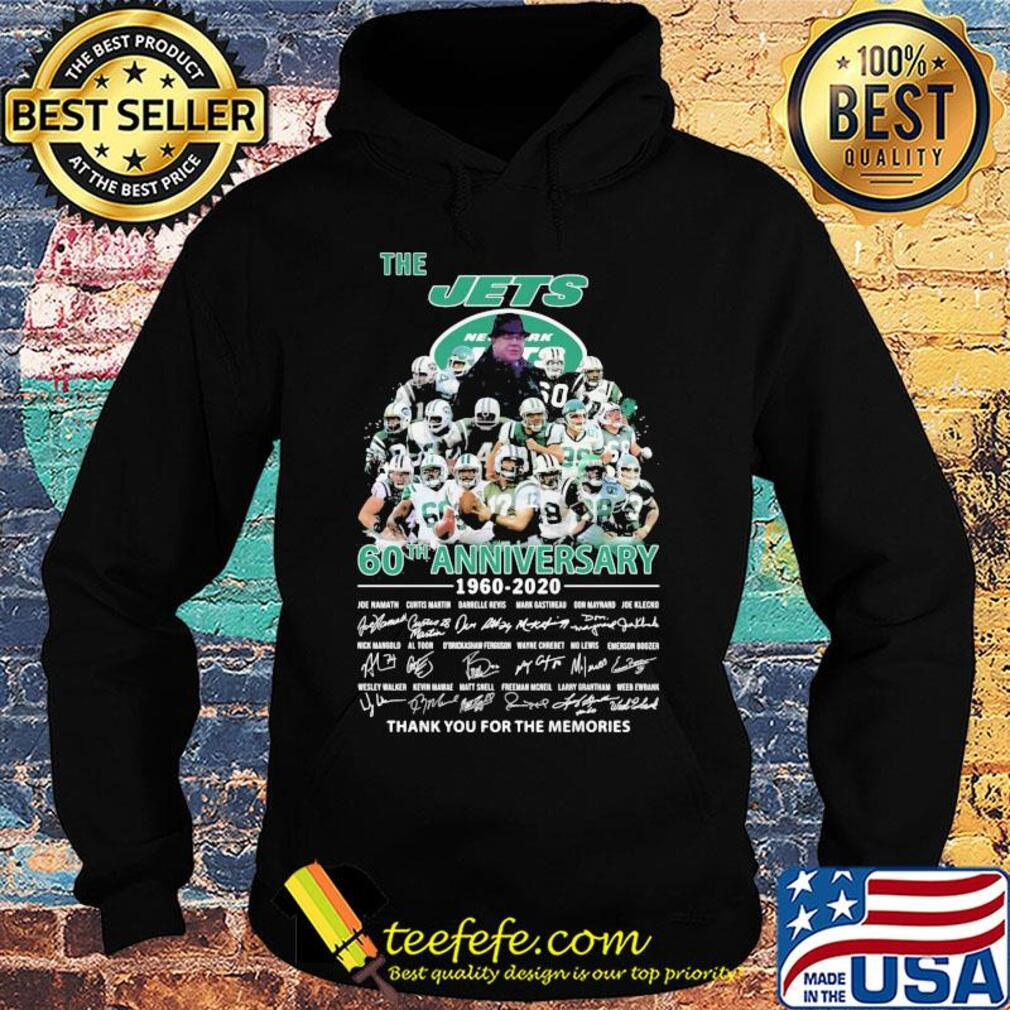 The new york jets 60th anniversary 1960 2020 thank you for the memories signatures s Hoodie