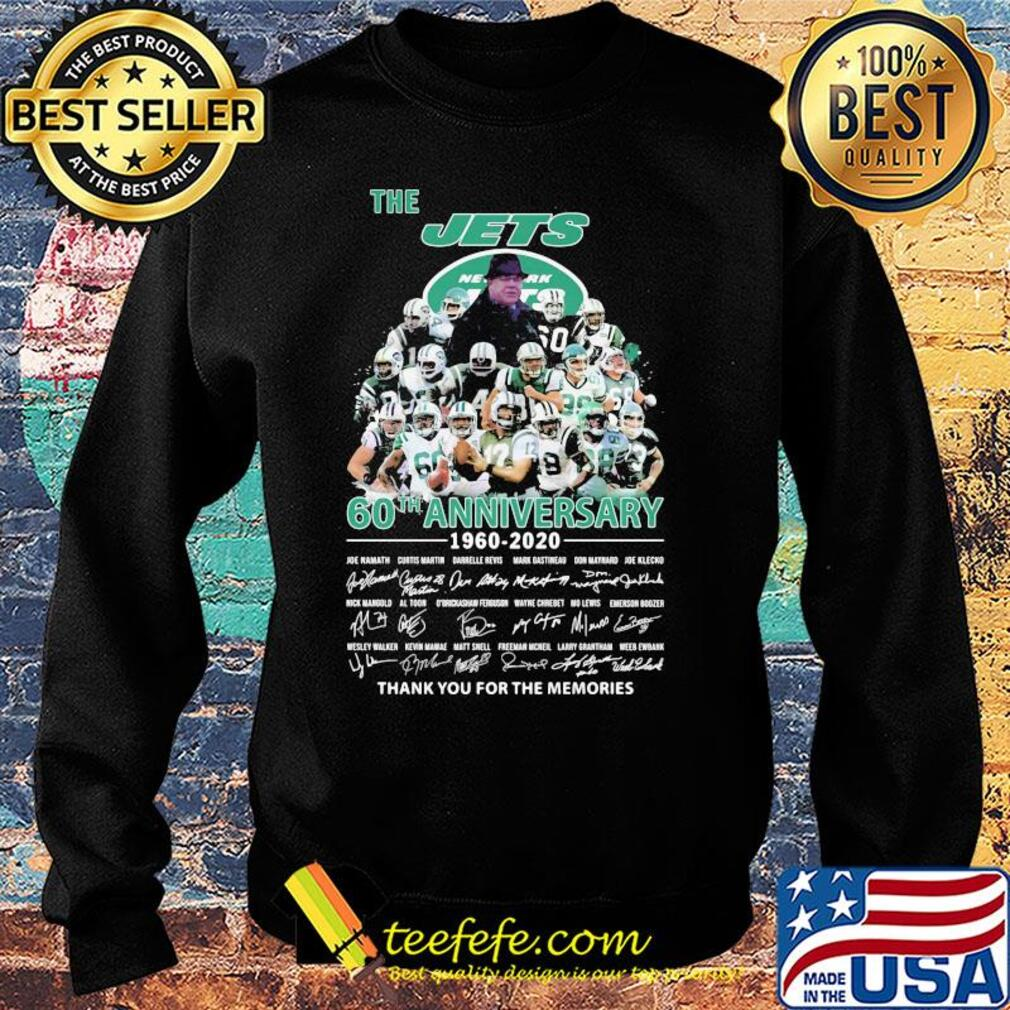 The new york jets 60th anniversary 1960 2020 thank you for the memories signatures s Sweater