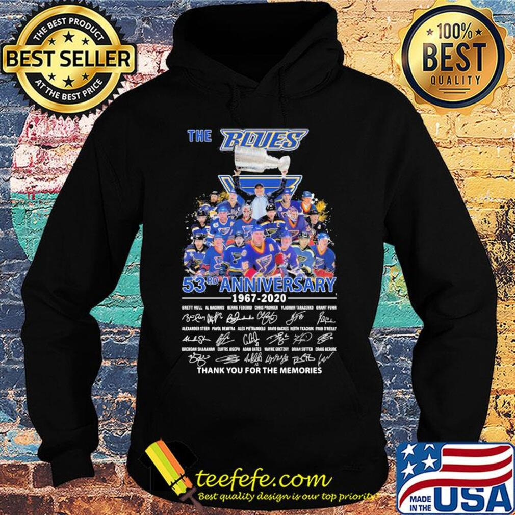 The st. Louis blues 53rd anniversary 1967 2020 thank you for the memories signatures s Hoodie