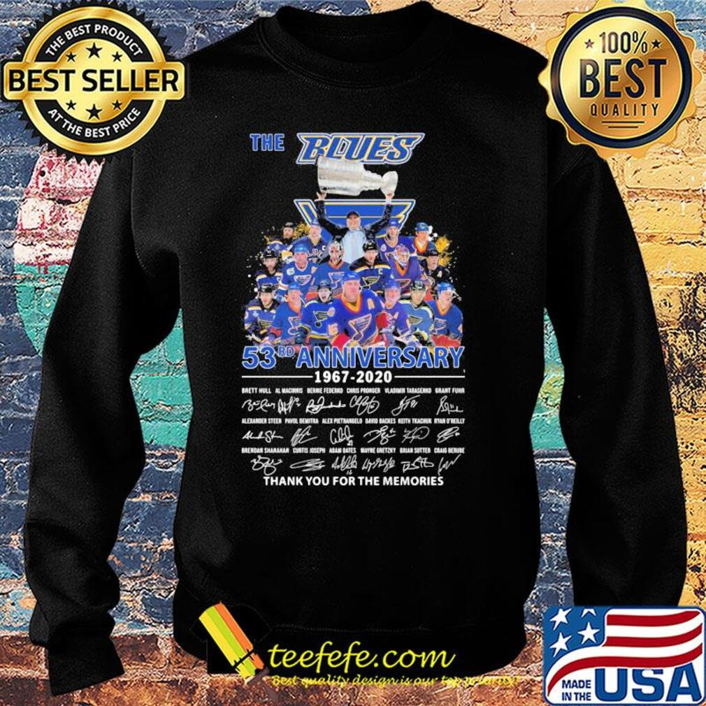 The st. Louis blues 53rd anniversary 1967 2020 thank you for the memories signatures s Sweater