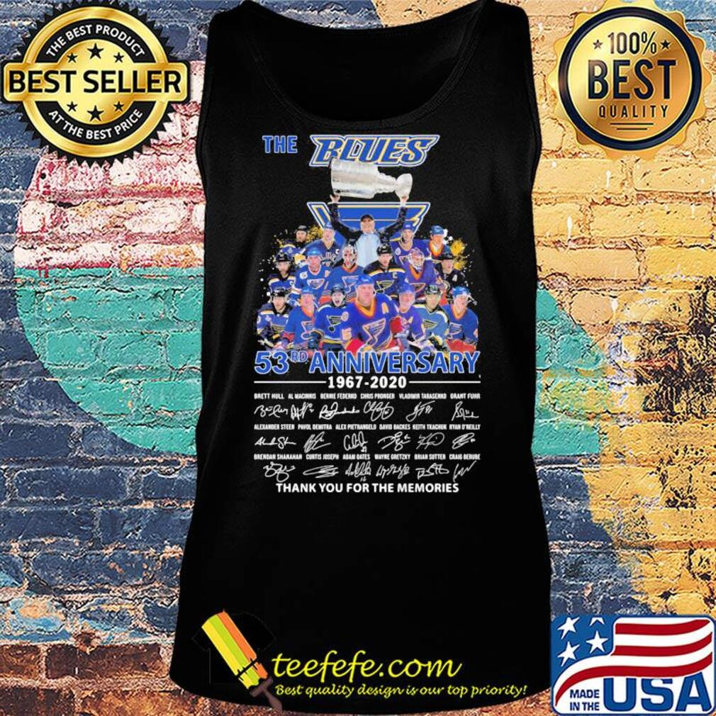 The st. Louis blues 53rd anniversary 1967 2020 thank you for the memories signatures s Tank top