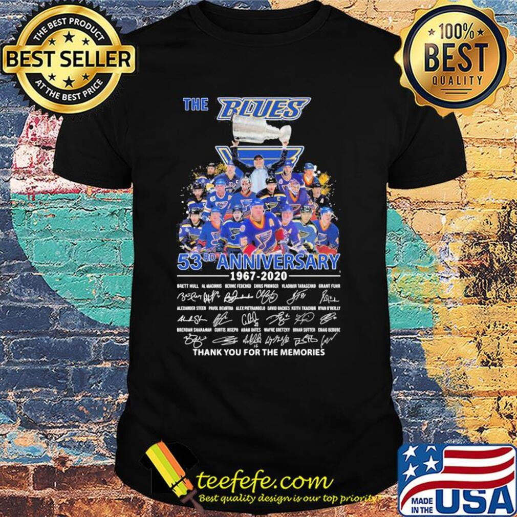 The st. Louis blues 53rd anniversary 1967 2020 thank you for the memories signatures shirt