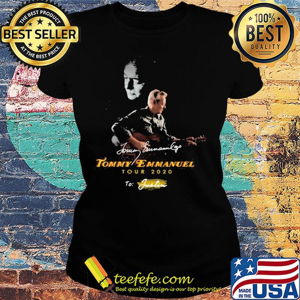Tommy emmanuel tour 2020 to justin signatures s Ladies tee