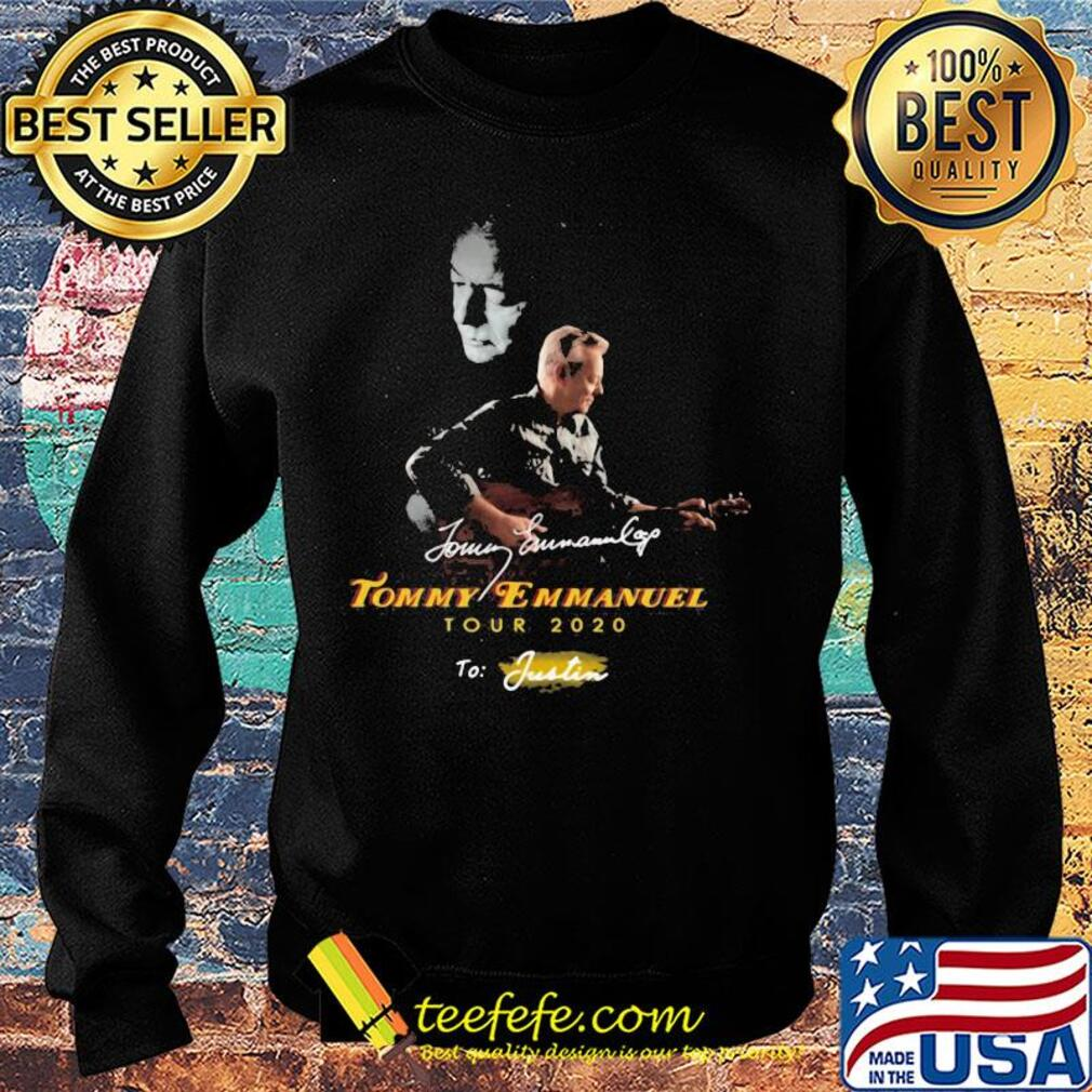 Tommy emmanuel tour 2020 to justin signatures s Sweater