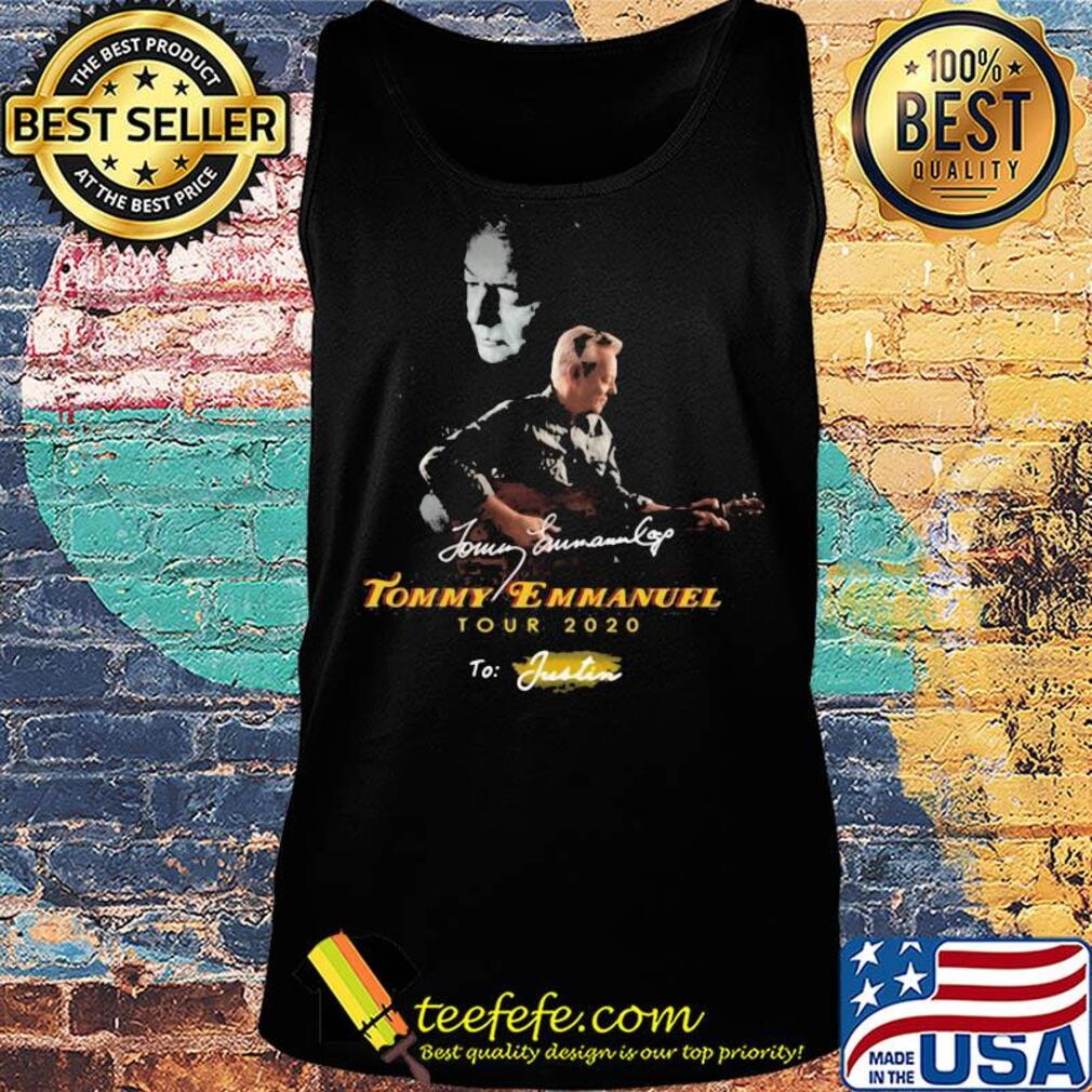 Tommy emmanuel tour 2020 to justin signatures s Tank top
