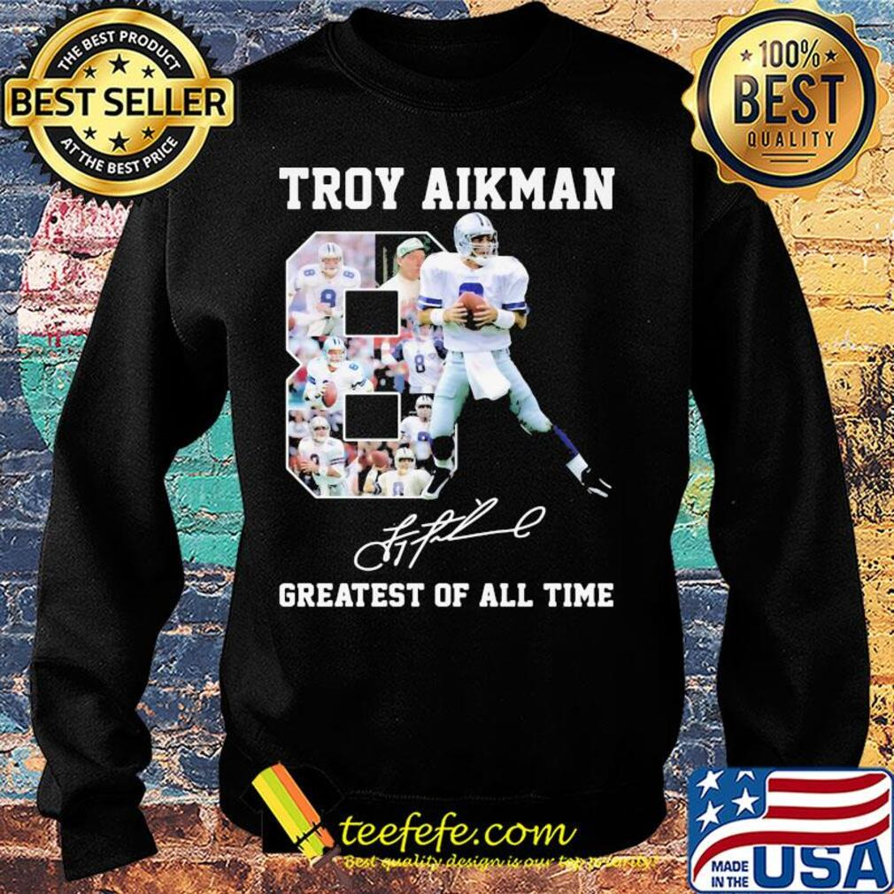 Troy aikman 8 greatest of all time signatures s Sweater