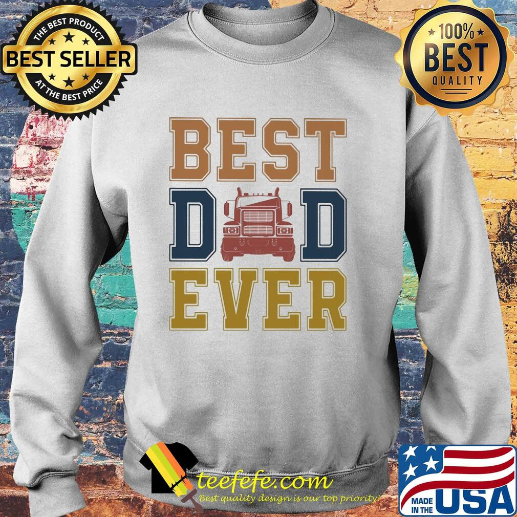 Truck best dad ever happy father's day vintage s Sweater