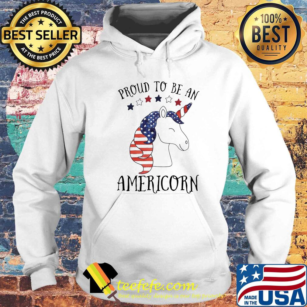 Unicorn proud to be an americorn american flag independence day s Hoodie