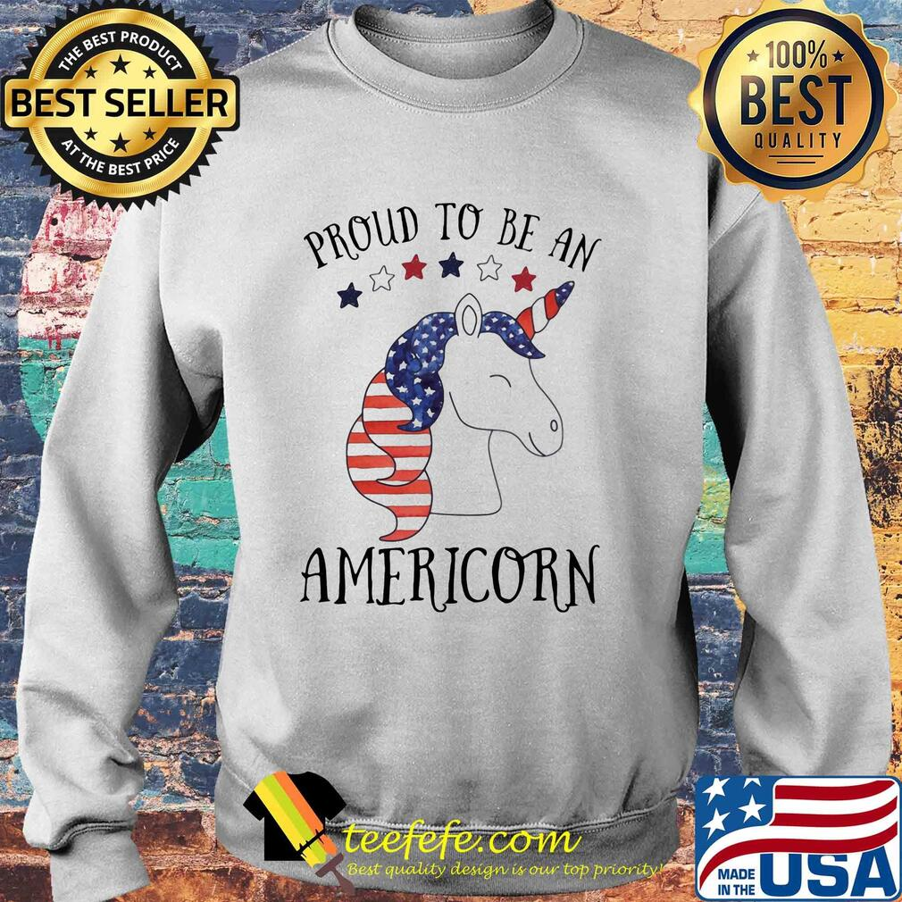 Unicorn proud to be an americorn american flag independence day s Sweater