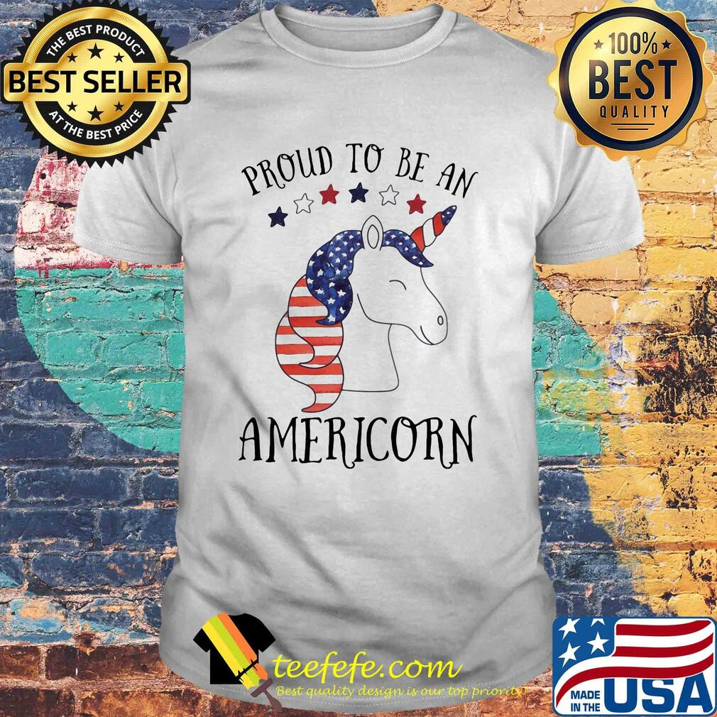 Unicorn proud to be an americorn american flag independence day shirt