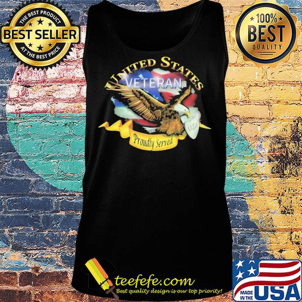 United states veteran proudly served US American flag veteran Independence Day s Tank top