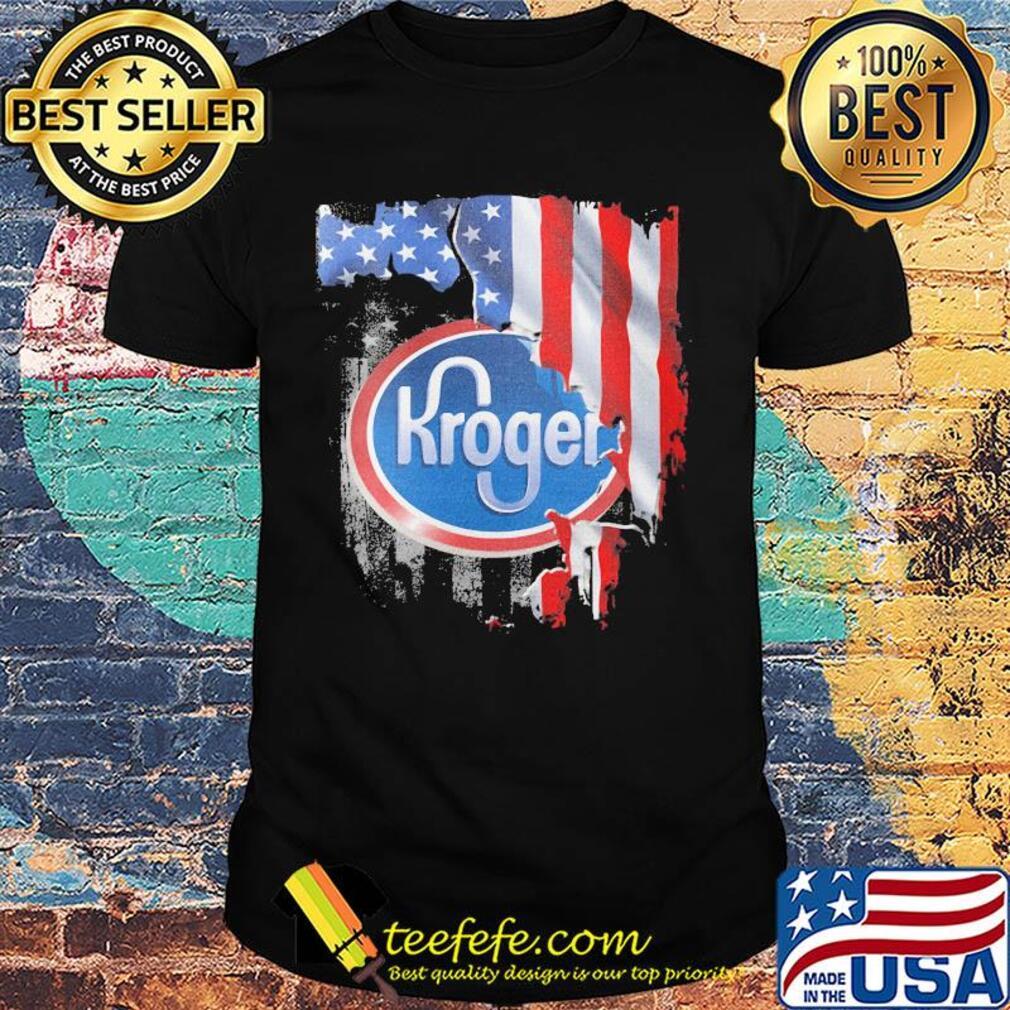Kroger american flag independence day shirt