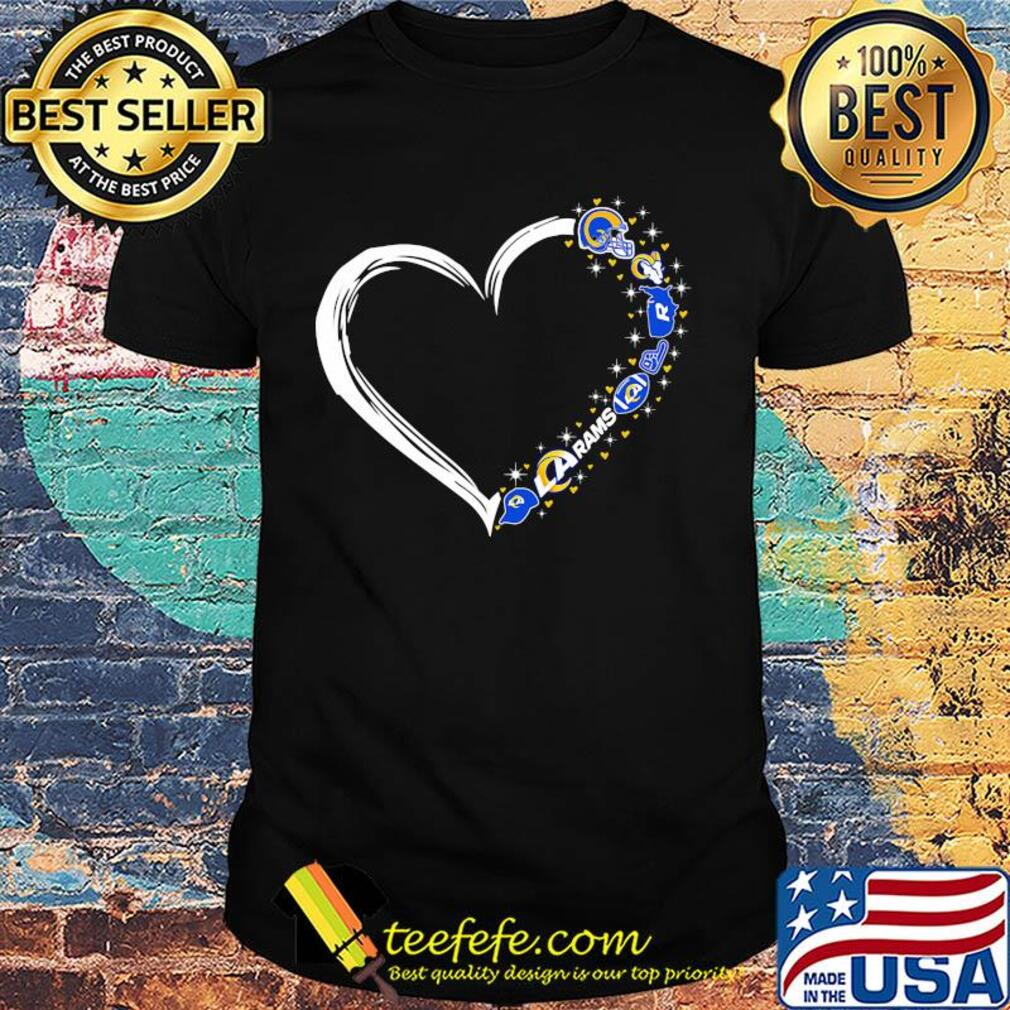 Love Los Angeles Rams football hearts shirt