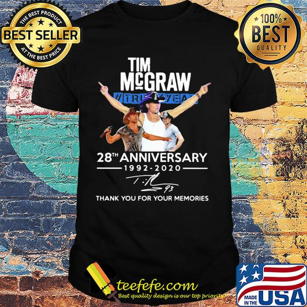 Tim McGraw II truck yeah 28th anniversary 1992 2020 thank you for your memories signature shirt
