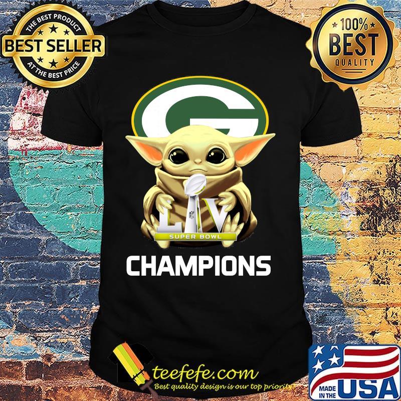 Baby Yoda Green Bay Packers Super Champions Shirt Teefefe