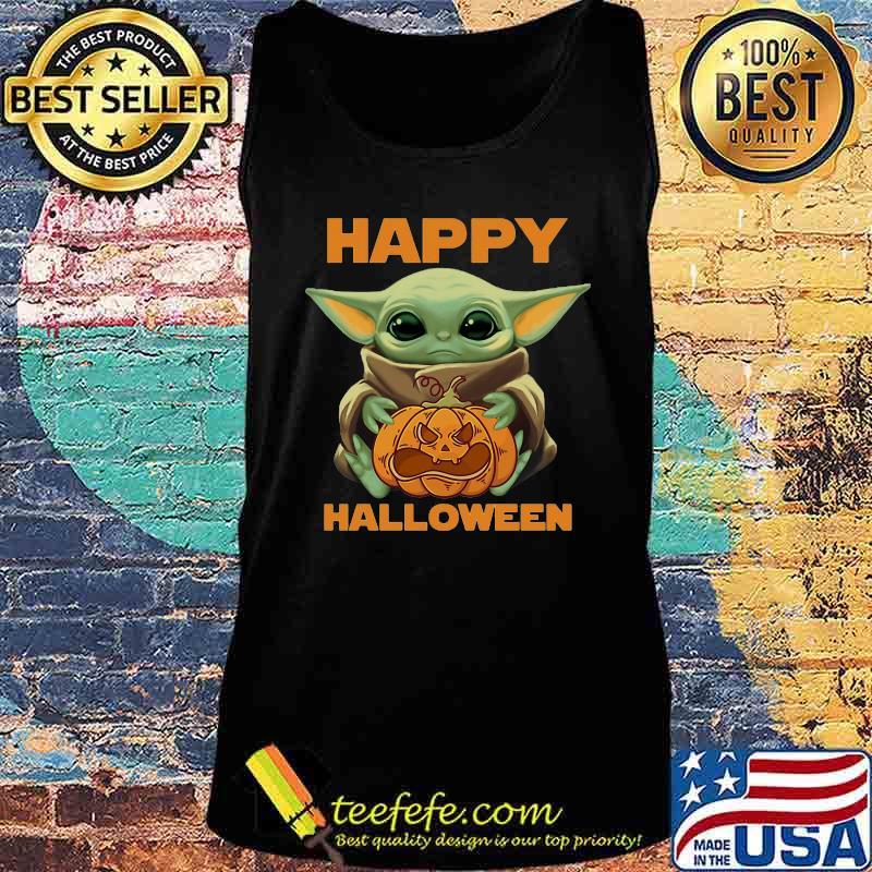 Happy Halloween Baby Yoda Hug Pumpkin Shirt Teefefe