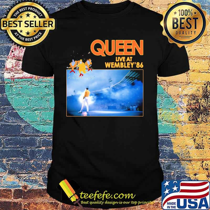 QUEEN Live at Wembley 86 Musique Rock Album Cover Iron on Tee T-Shirt Transfert A5