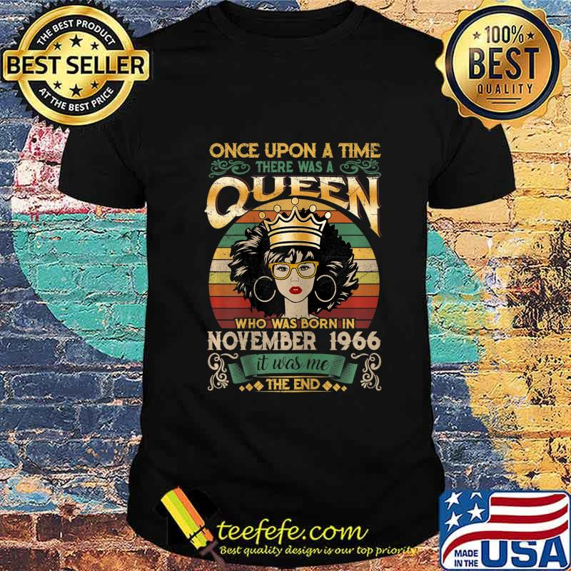 54 Years Birthday Girls 54th Birthday Queen November 1966 T-Shirt