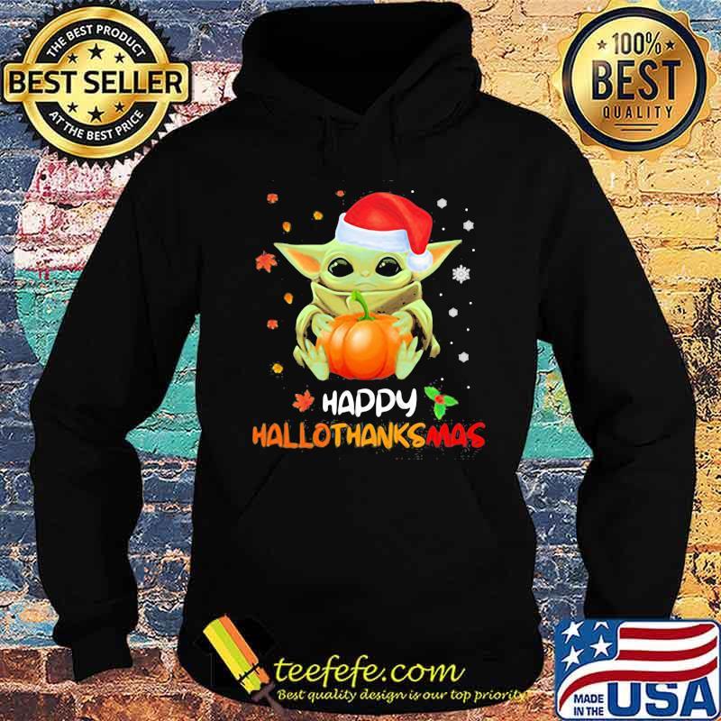 Baby yoda santa happy hallothanksmas halloween ...