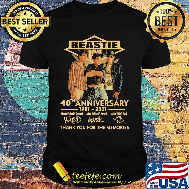 Beastie 40th anniversary 1981 2021 thank for the memories signatures shirt