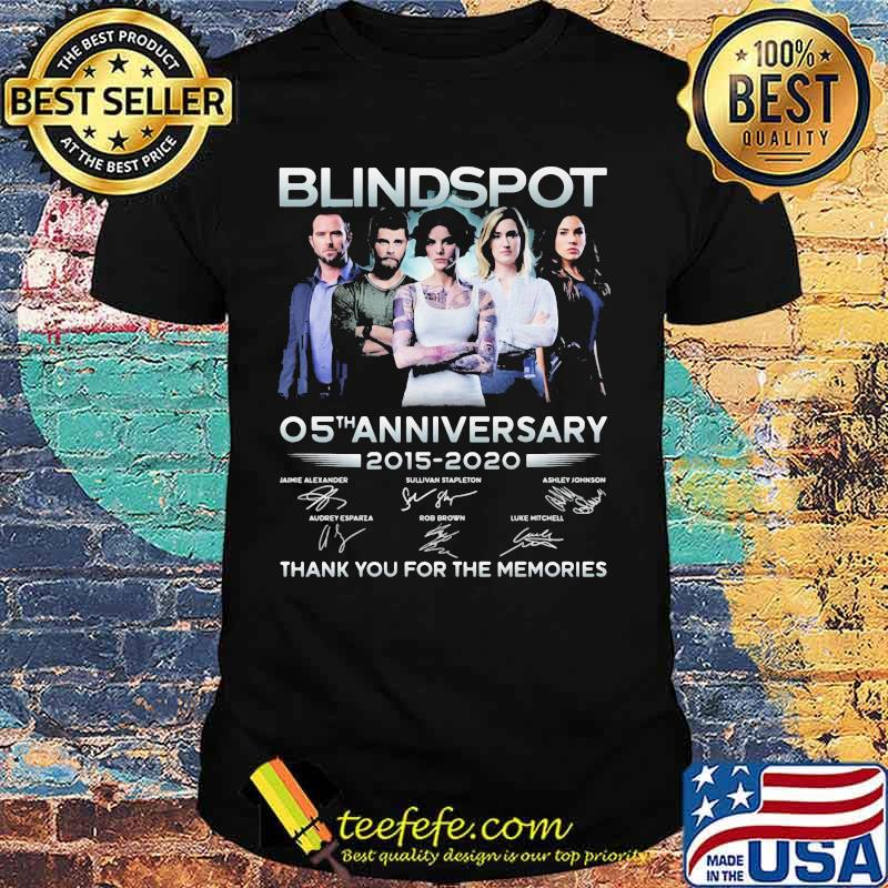 Blindspot 05th anniversary 2015 2020 thank for the memories signatures shirt