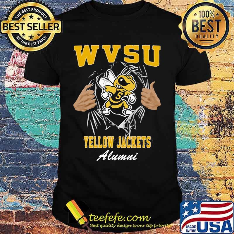 Blood inside bee wvsu yellow jackets alumni shirt