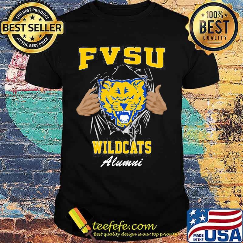 Blood inside cat fvsu wildcats alumni shirt